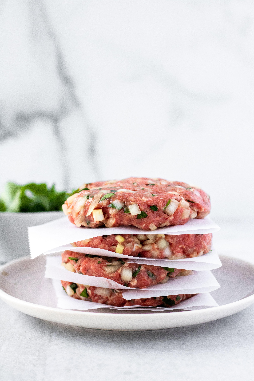 The Best Homemade Hamburger Patties A Thousand Crumbs