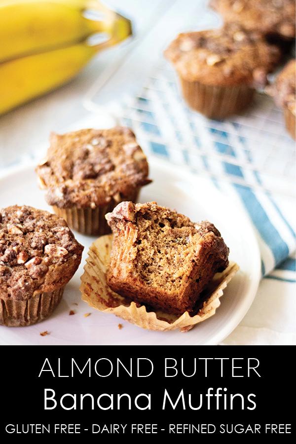 Almond Butter Banana Muffins