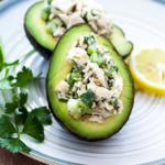 Recipe Card - Lemon Chicken Salad Avocado Bowls