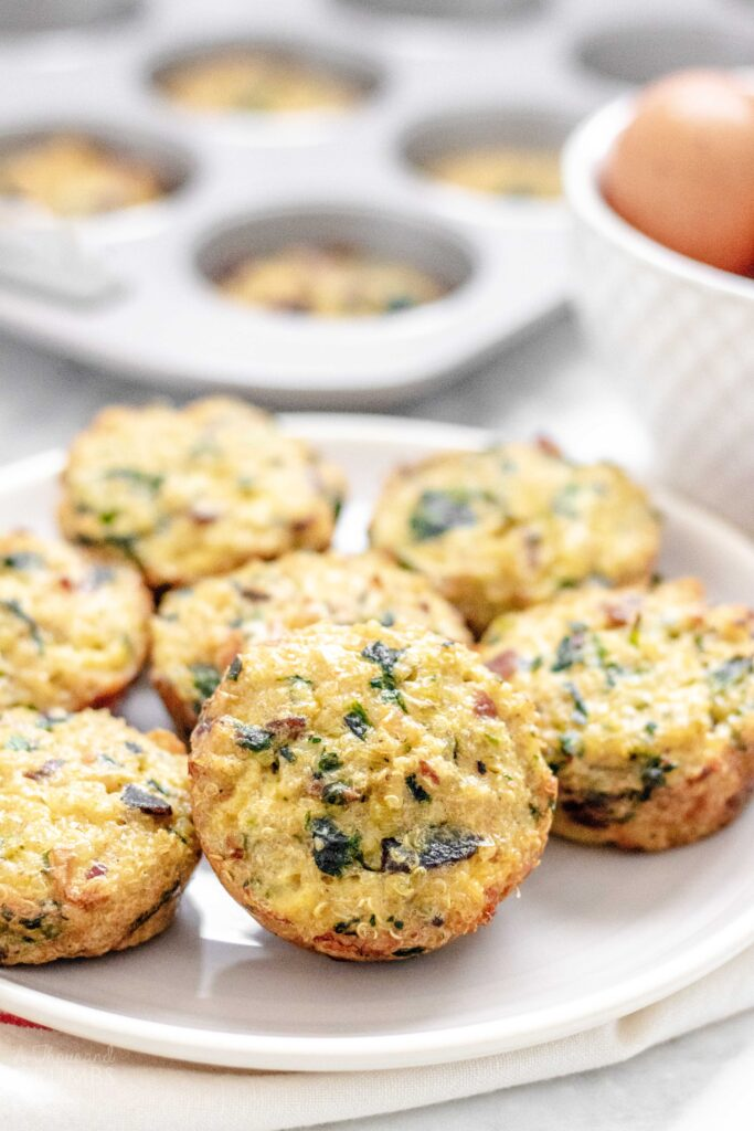 Quinoa Breakfast Cups - Spinach, Bacon, Leek from A Thousand Crumbs (3 of 6)