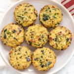 Recipe Card - Quinoa Breakfast Cups - Spinach, Bacon, Leek