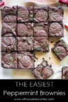 Pinterest - The Easiest Peppermint Brownies