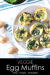 These easy egg muffins are full of flavor and healthy veggies. They are freezer-friendly and an easy grab-and-go breakfast. This egg muffin recipe is paleo, gluten-free, dairy-free, whole30, and keto friendly. #athousandcrumbs #eggmuffins #glutenfree #dairyfree #paleo #whole30 #keto