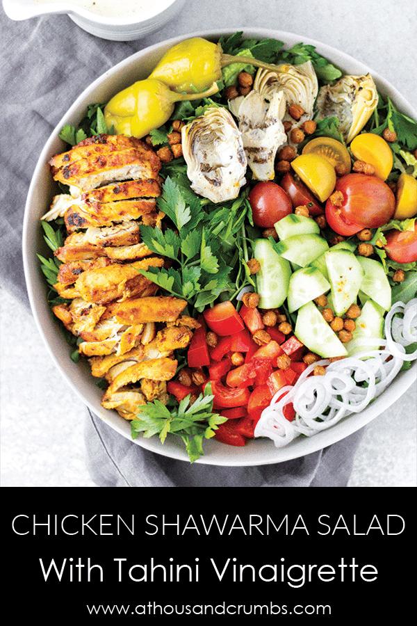 Pinterest - Chicken Shawarma Salad with Tahini Vinaigrette