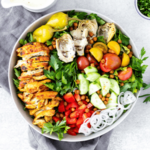 Recipe Card - Chicken Shawarma Salad with Tahini Vinaigrette