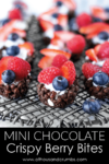 Pinterest - Mini Dark Chocolate Crispy Berry Bites